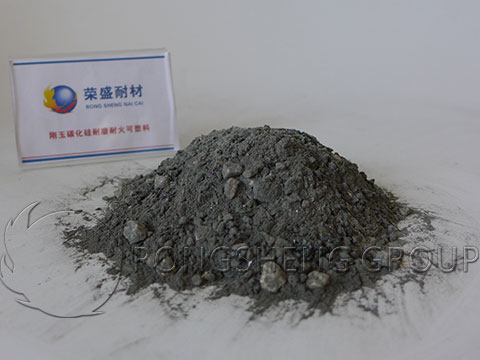 Corundum Silicon Carbide Wear Resistant Refractory Plastic